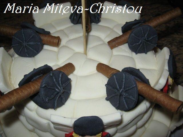 Декорация за торта на Войнишка тематика