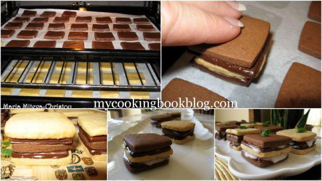 Кокосово-Какаови Бисквити Слепени с Мента и Шоколад - Af