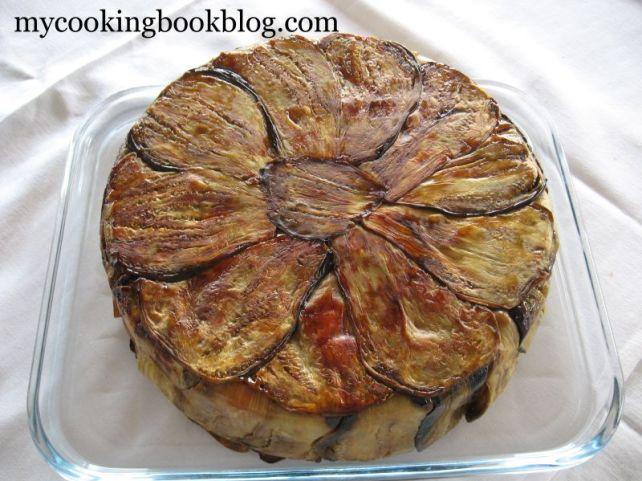 Постна торта с патладжани и макарони