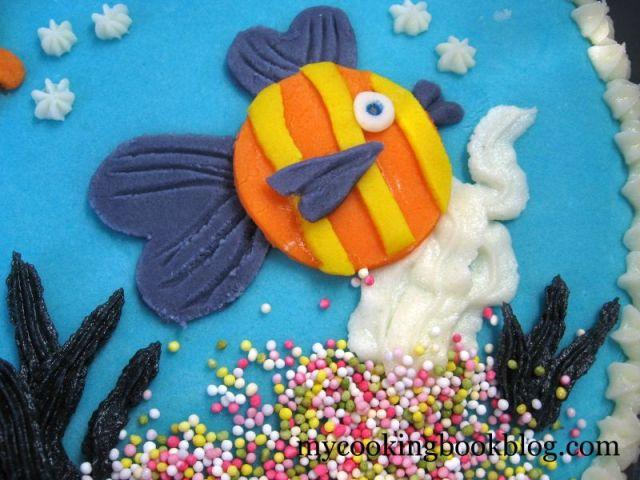 Торта Аквариум с Рибки