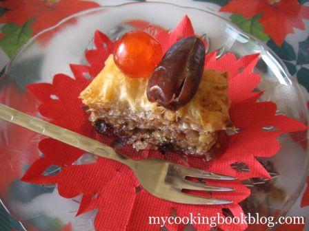 Баклава с Орехи, Сушени Плодове и Кокосови Стърготини