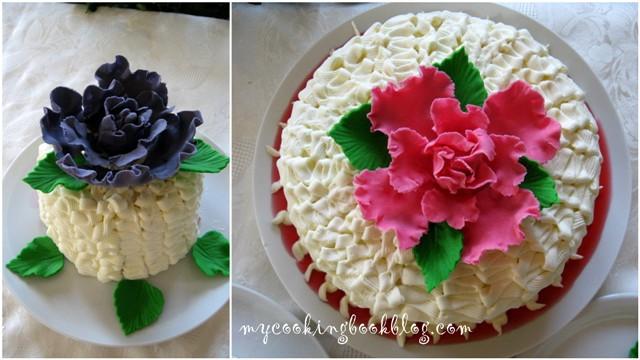 Торта (чийзкейк) с малини и къпини. Честит ми рожден ден!