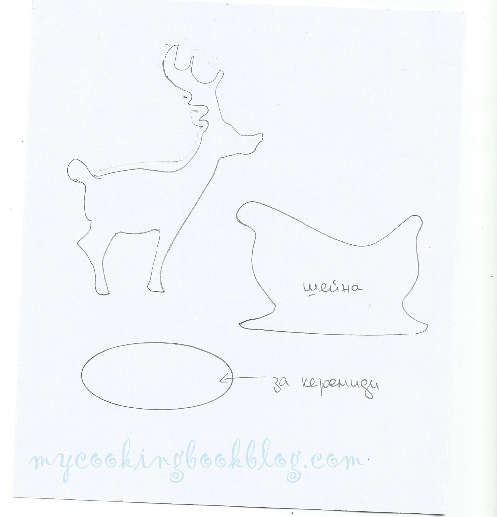 шаблон за шейна и елен