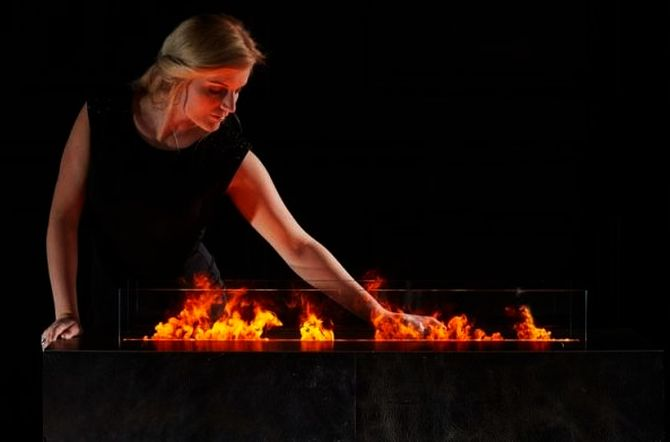 Magic Fireplace by Safretti literally sets the water on