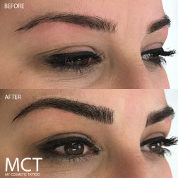 Eyebrow Tattoo Feather Touch Before & After