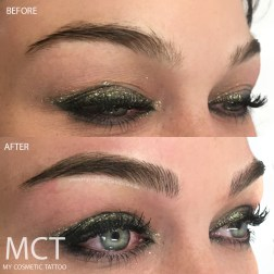 Before & After 3D Brow Feathering Tattoo