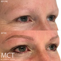 Before & After Brow Feathering Tattoo