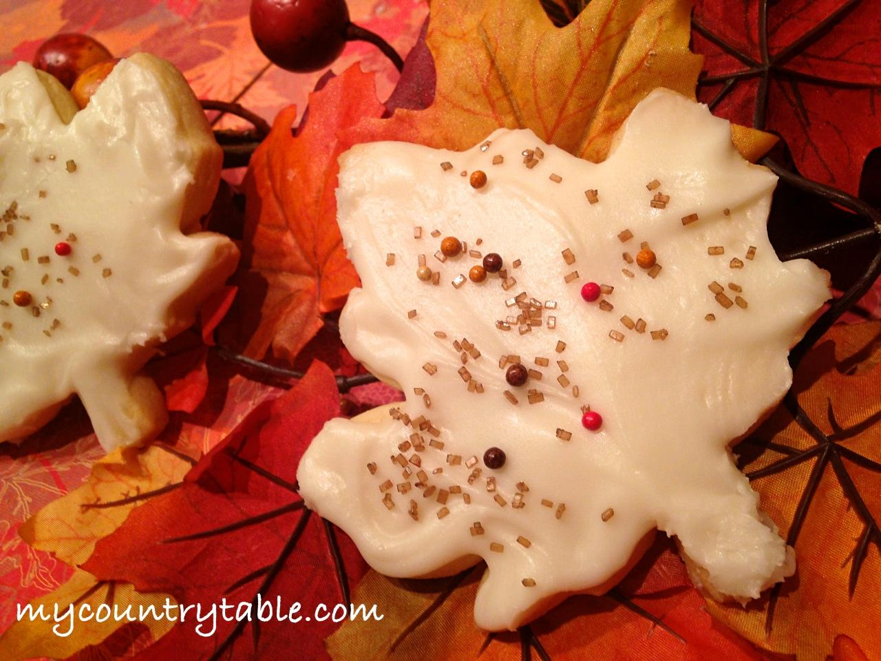 Fall Butter Cookies