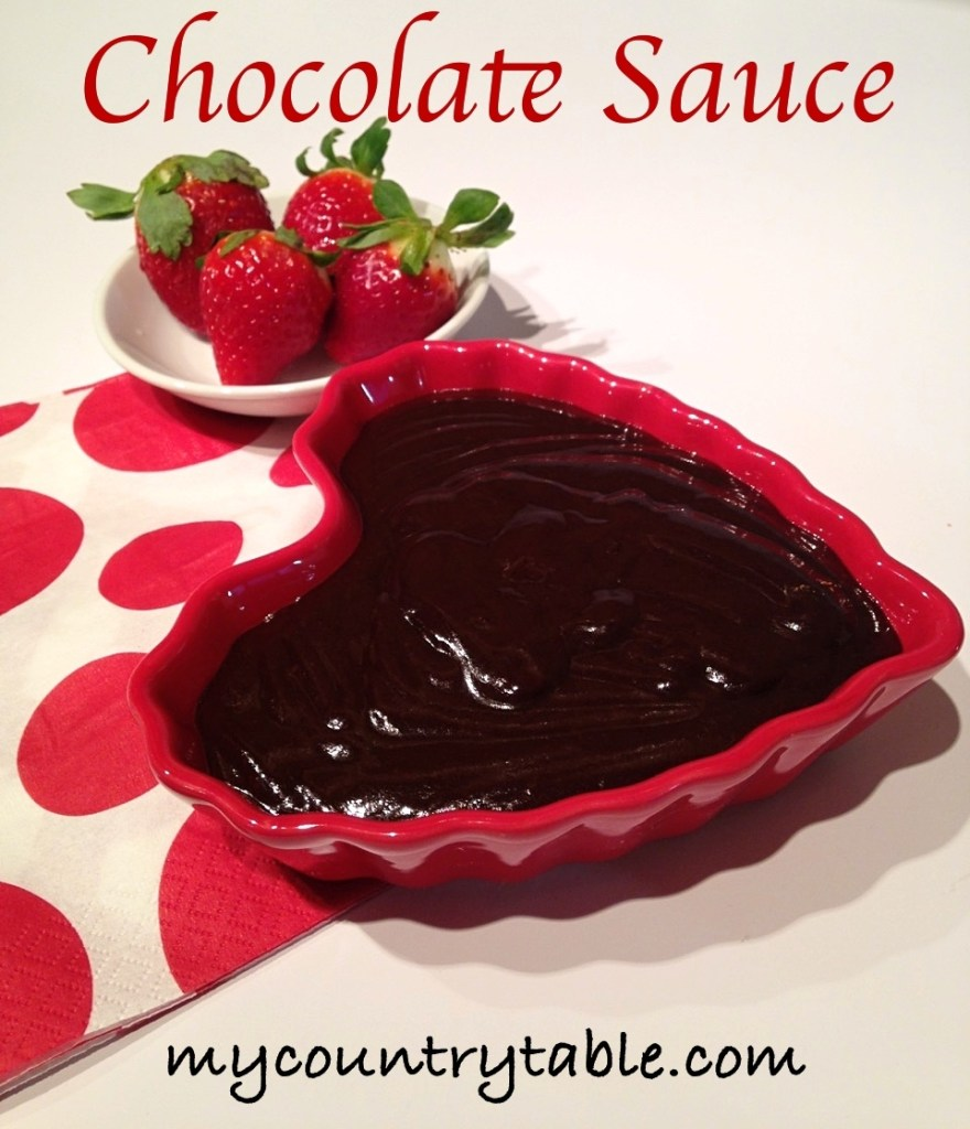 Chocolate Sauce - My Country Table