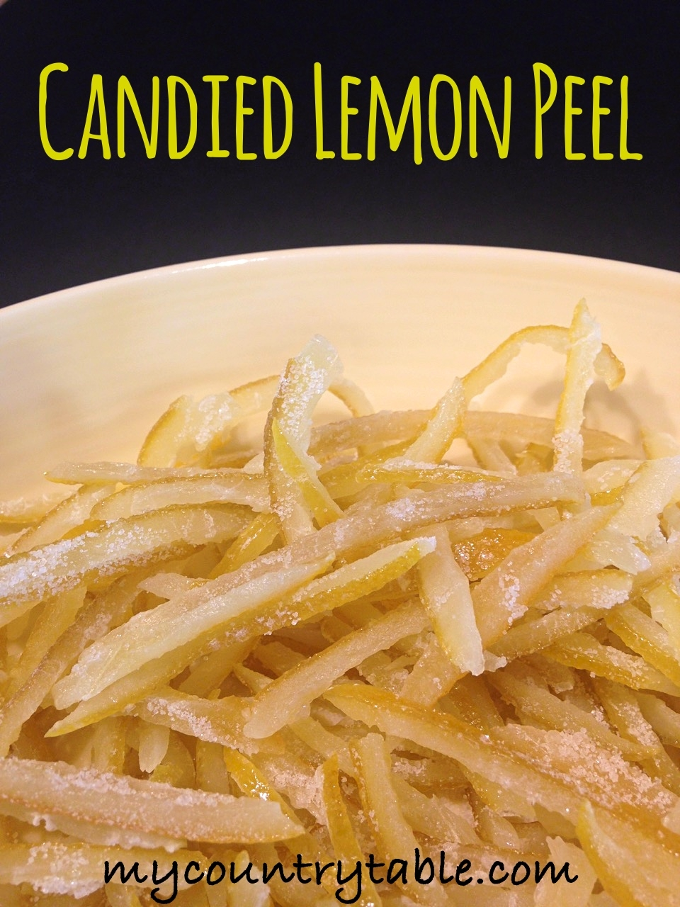 Candied Lemon Peel