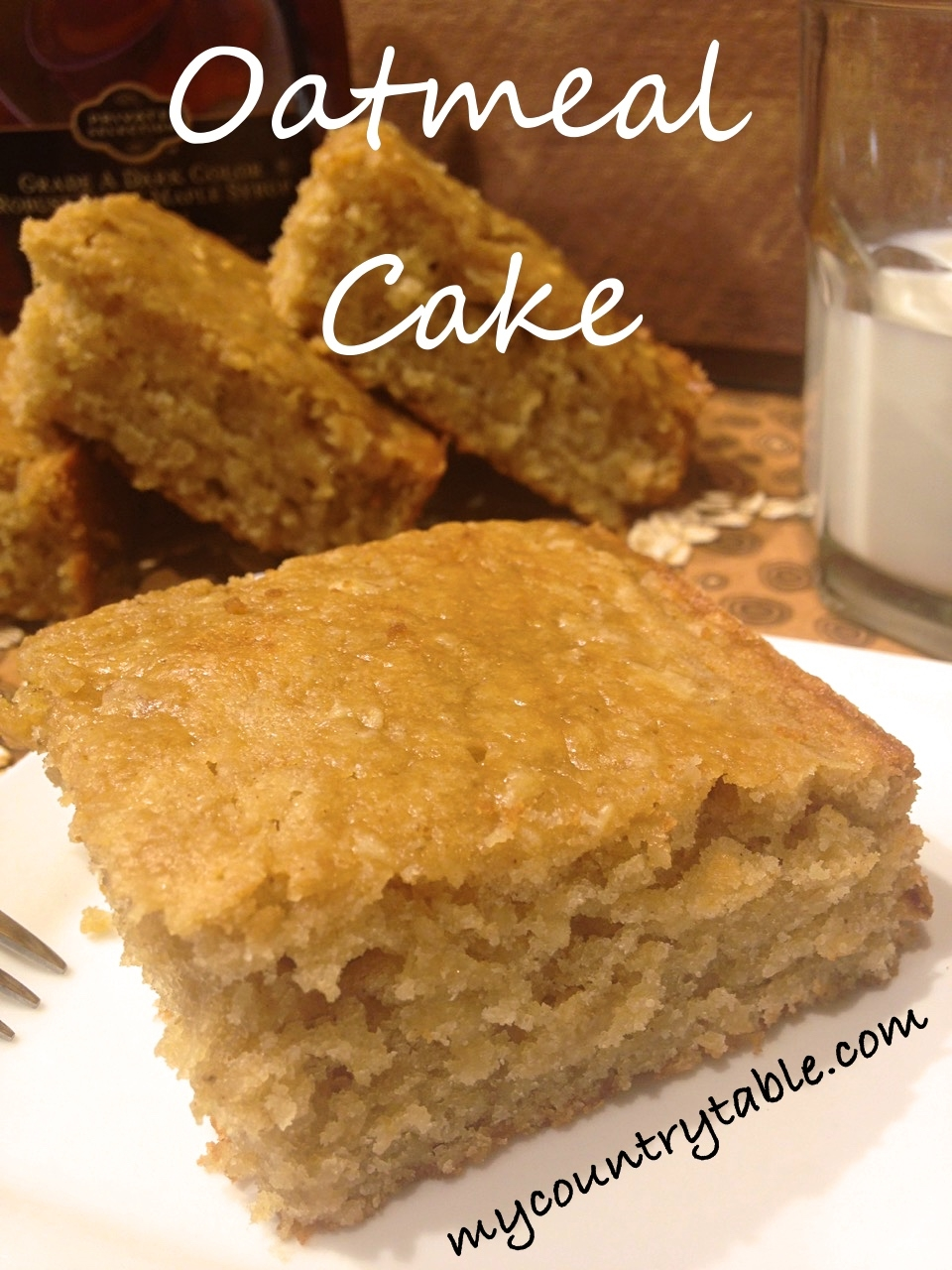 Oatmeal Cake with Maple Glaze