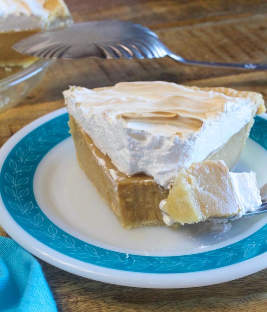 Homemade Butterscotch Cream Pie