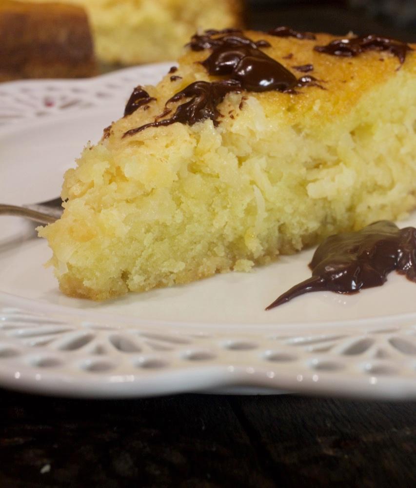 Coconut Crunch Cake with Chocolate Ganache