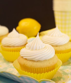 Moist Lemon Cupcakes with Mousse Filling