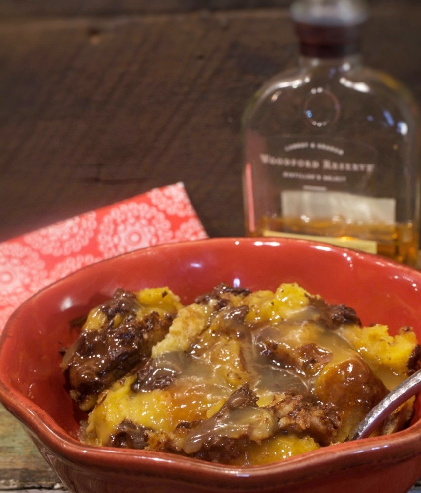 Chocolate Bread Pudding With Bourbon Sauce