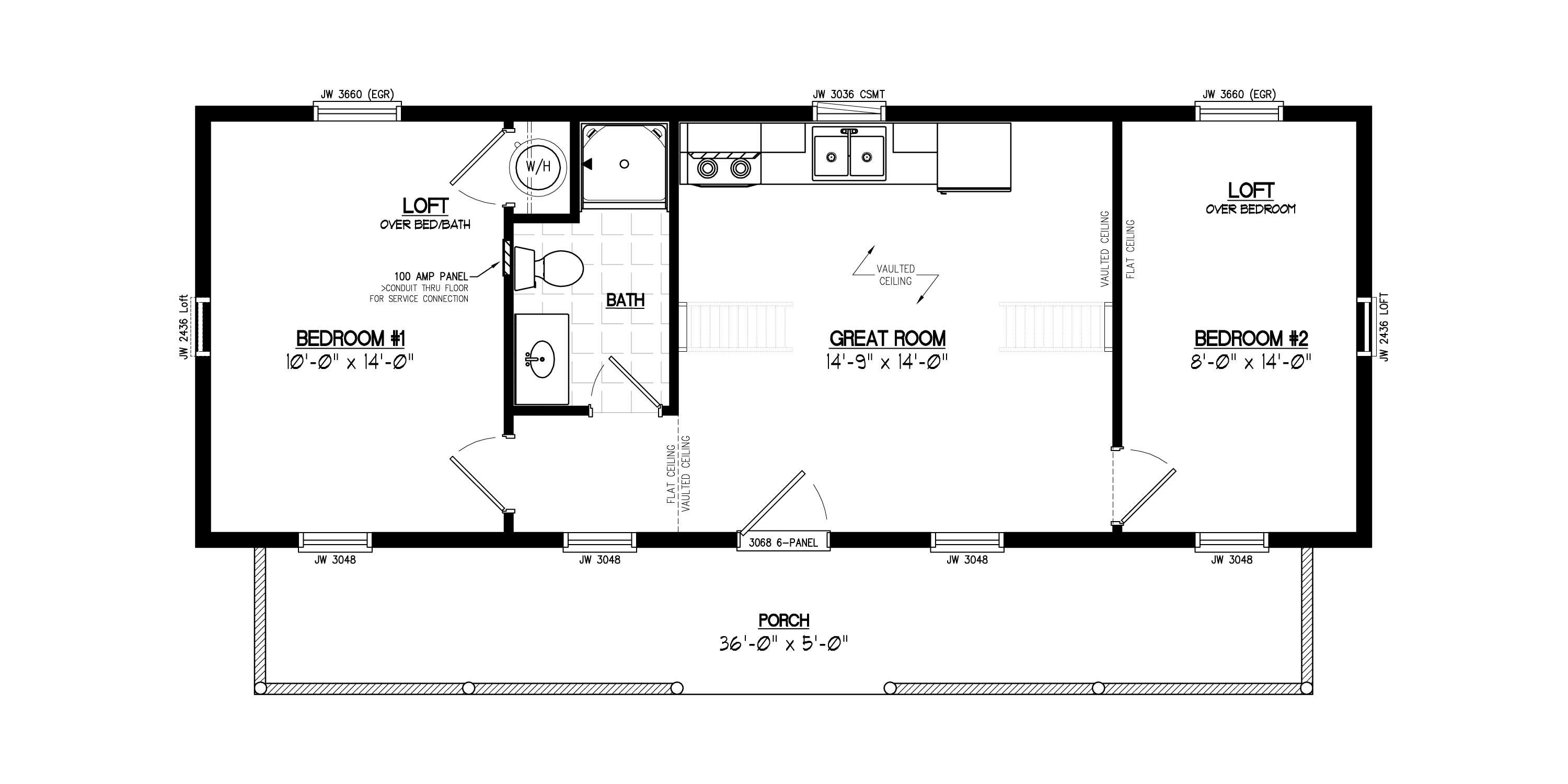 New cape cod floor plans with loft house floor ideas for 28x36 cabin plans