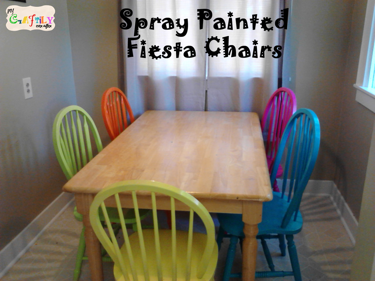 painted tables and chairs wrought iron outdoor india spray fiesta for the dining room table my craftily