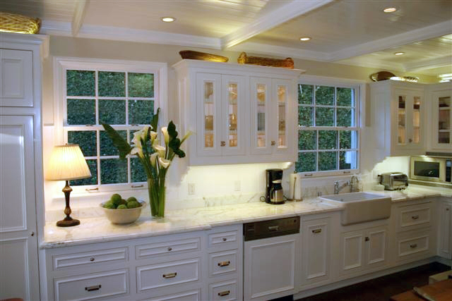 White Country Kitchen Remodel  Craftsman Connection LLC