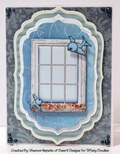 Tiffany Doodles Birds and Windows