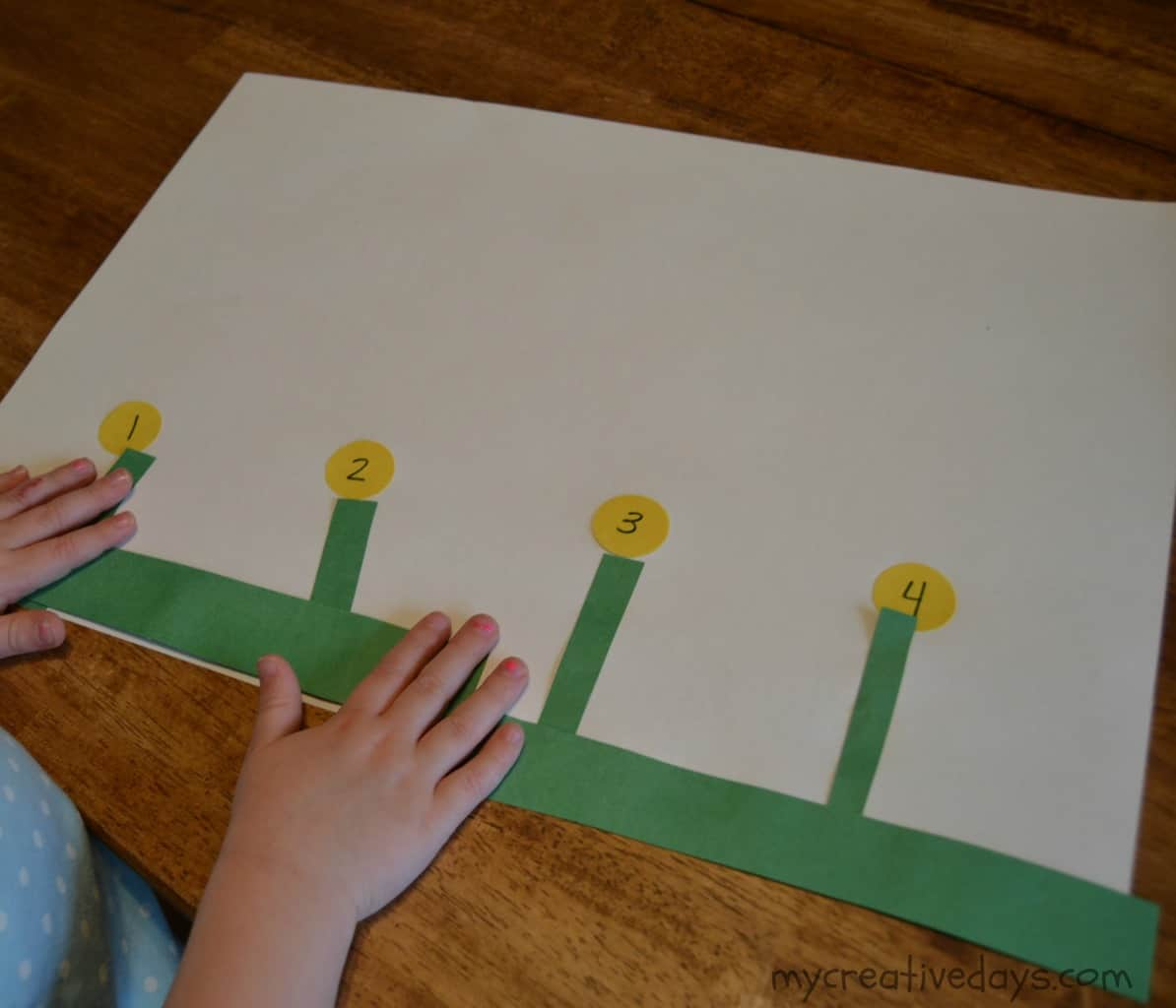 Spring Flowers Counting And Shape Activity