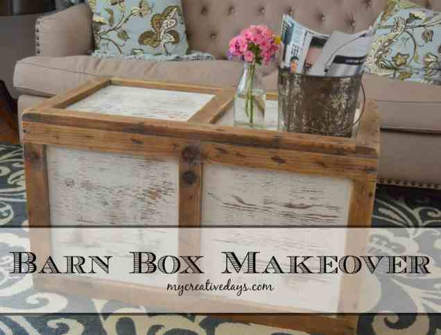 Barn Box Makeover mycreativedays.com