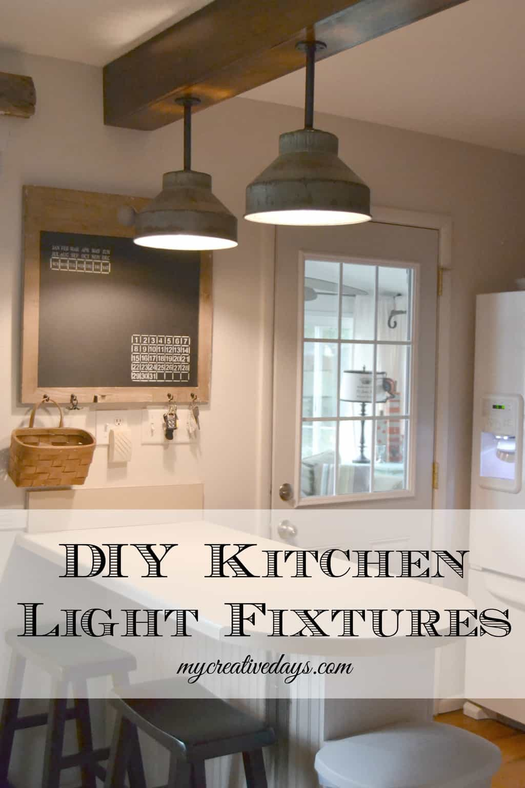 DIY Kitchen Light Fixtures Part 2  My Creative Days