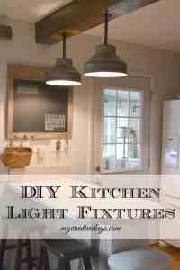 DIY Kitchen Light Fixtures {Part 2} - My Creative Days