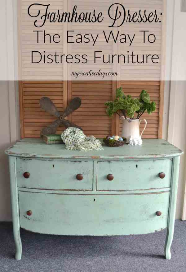 How to Distressed Painted Furniture
