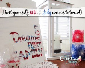 Do it Yourself 4th of July Canvas Tutorial