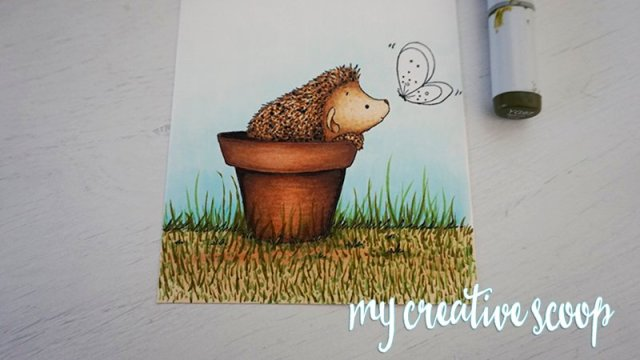 How to Color Grass using Copic Markers -4