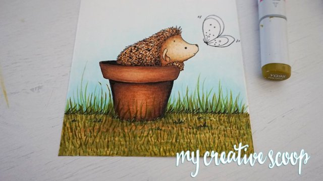 How to Color Grass using Copic Markers -6