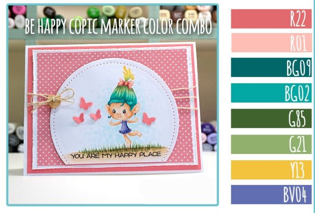 Your Next Stamp blog Hop + Copic Marker Color Combo