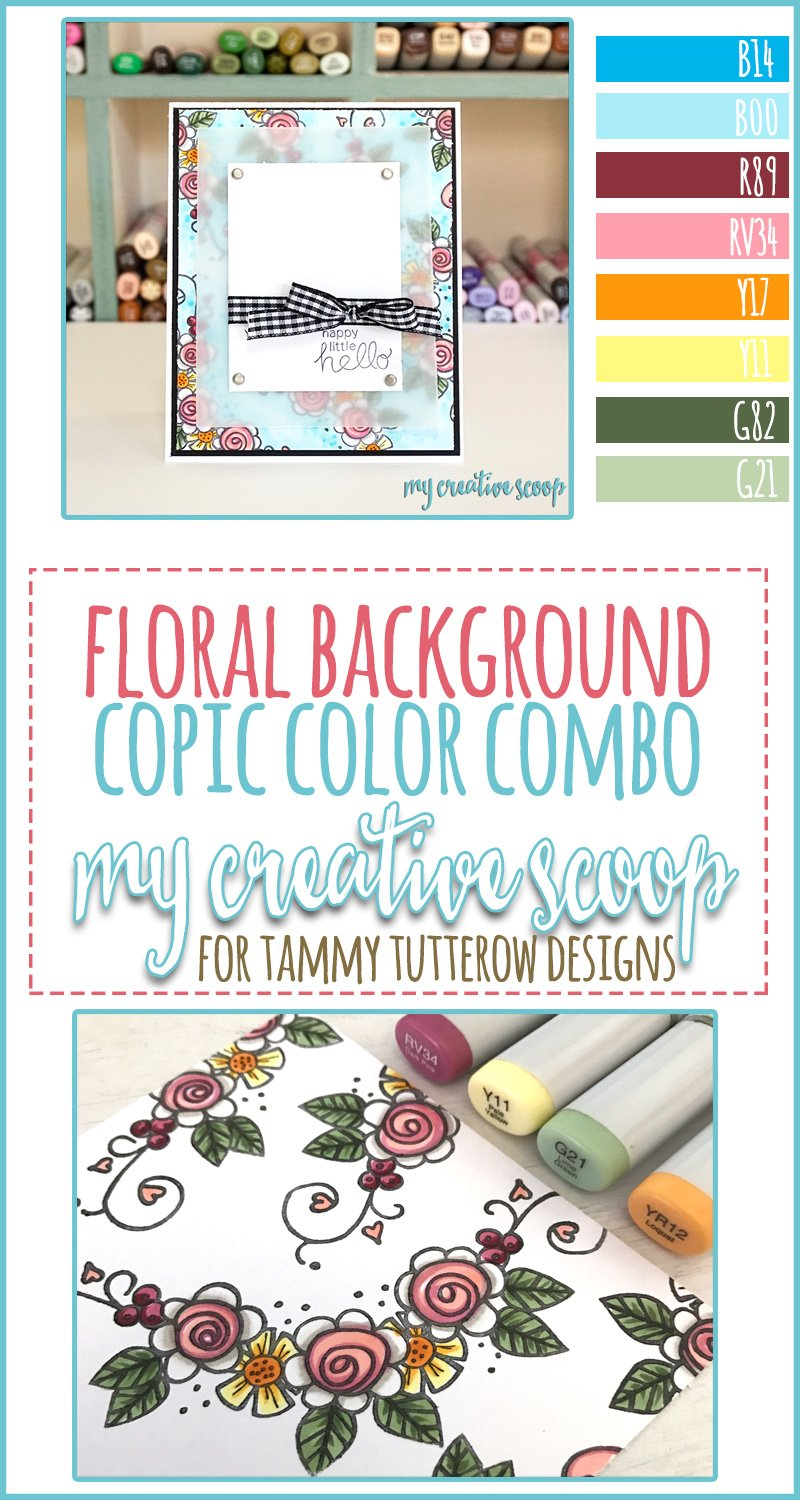 Floral Background Copic Marker Color Combo