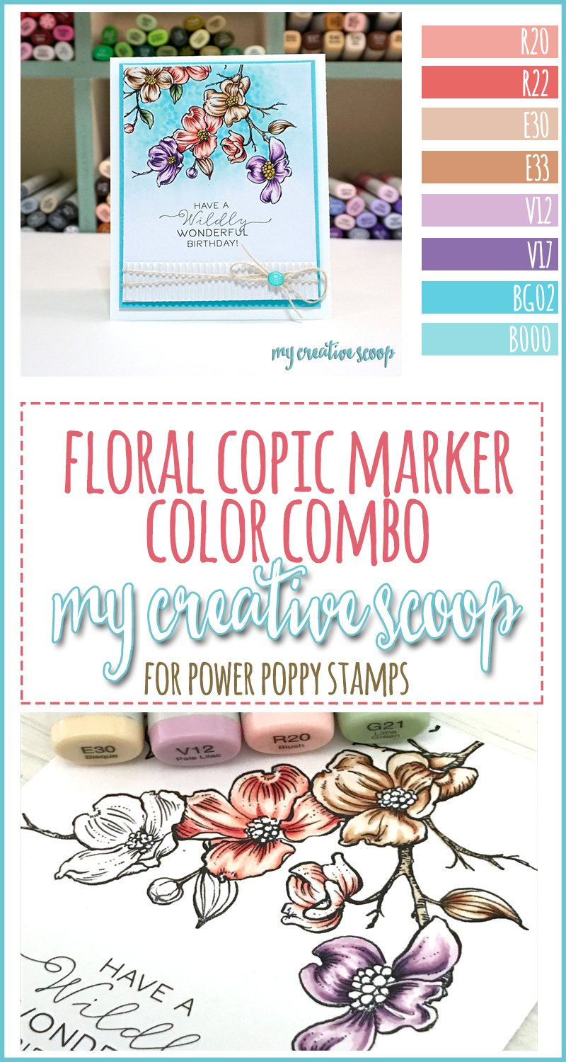 Power Poppy Copic Marker Floral Color Combo