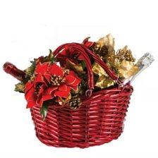 Κόκκινο Καλάθι για Χριστουγεννιάτικα δώρα