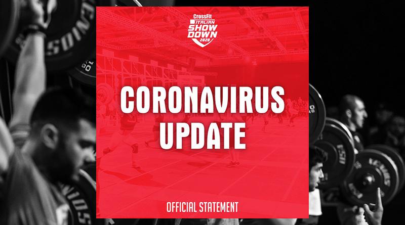 CrossFit Italian Showdown Update coronavirus