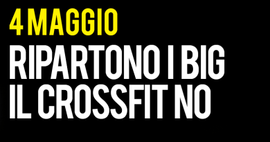 4 maggio ripartono gli allenamenti dei big il CrossFit no