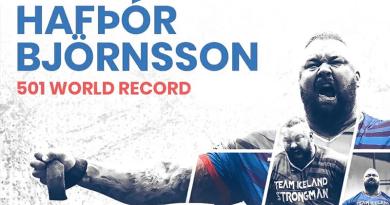Björnsson batte il record mondiale di deadlift 501Kg