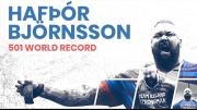 L'Islandese Björnsson batte il record mondiale di deadlift e solleva 501Kg