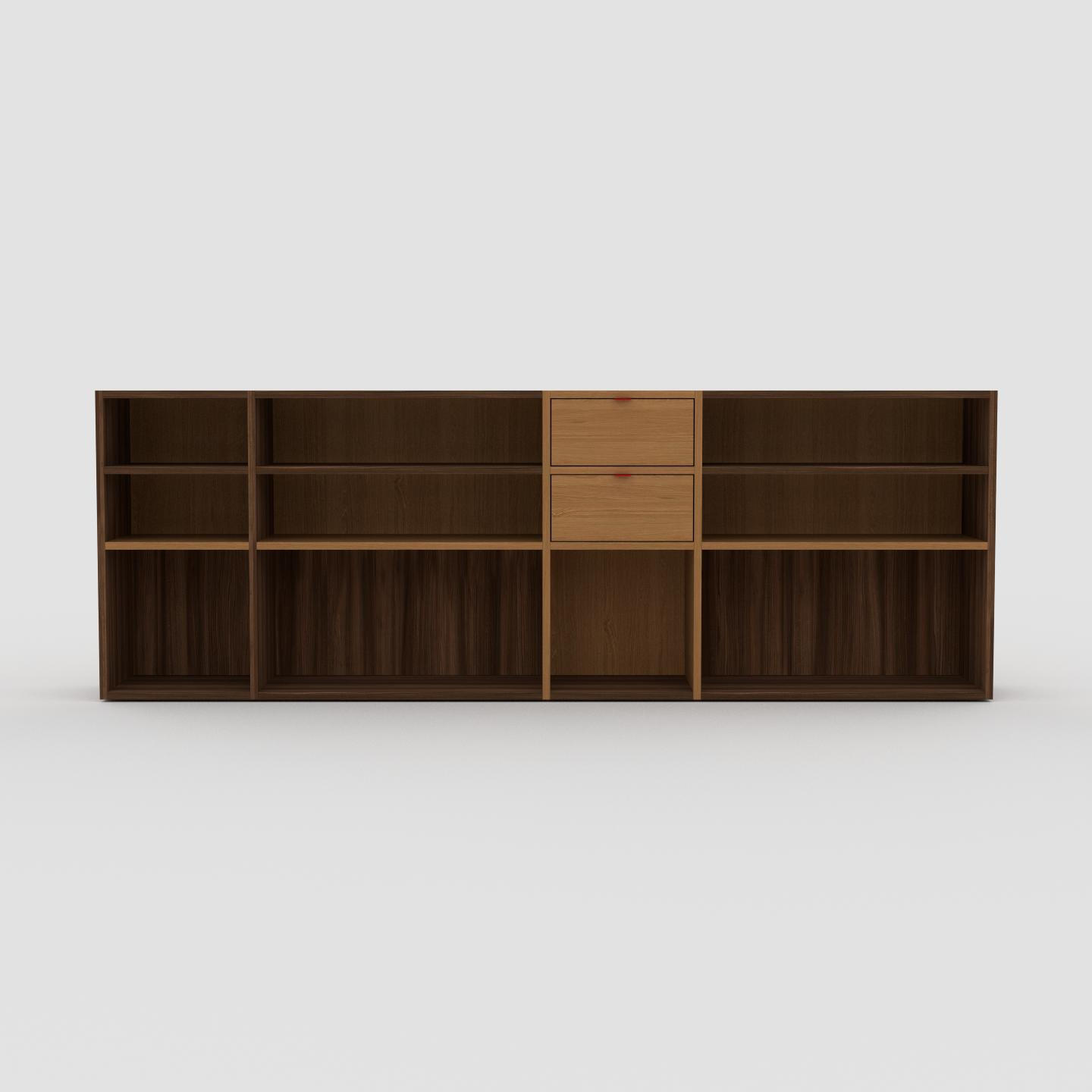 bibliotheque basse modulable etagere
