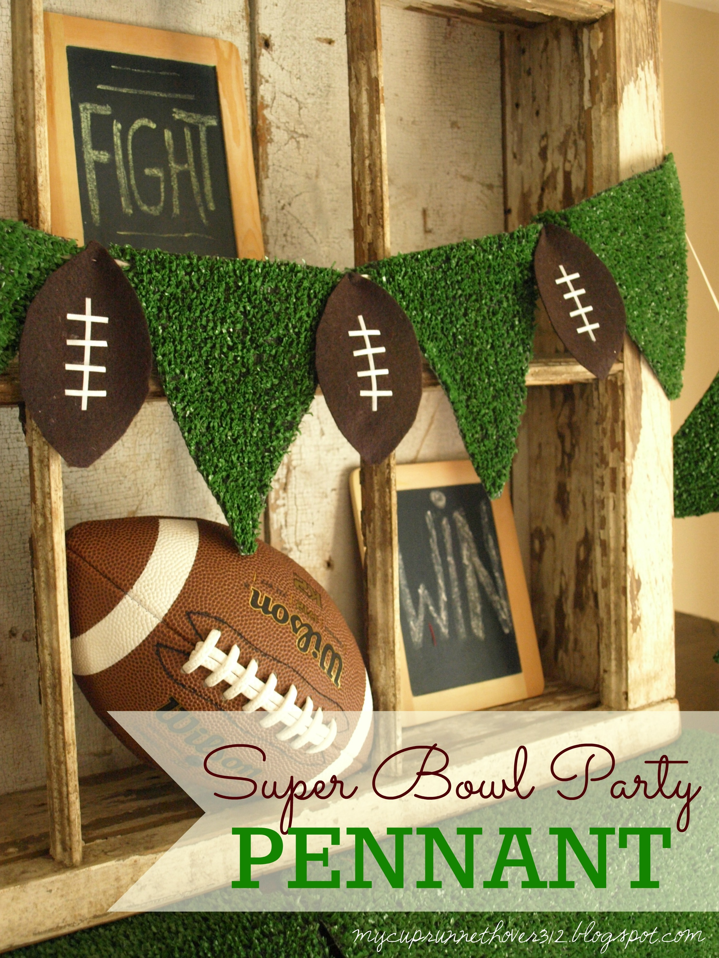 This Football Pennant Is The Perfect Decoration For Your Super Bowl Party Easy To Make