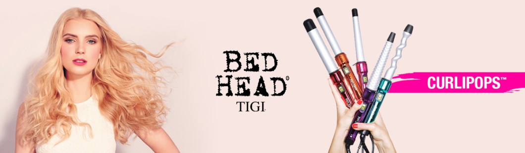 Bed Head Curling Iron Banner