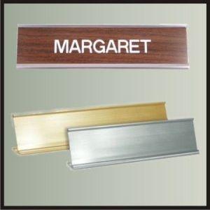"""Aluminum Easel Nameplate Holder - 8"""""""