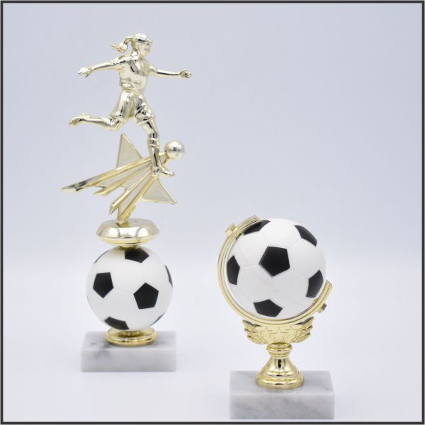 Soccer spinning trophies