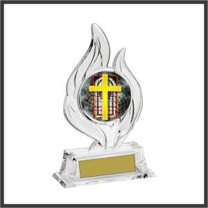 religious krystal flame award