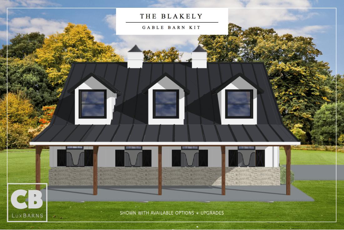 Side View Blakely 52' Barn Kit