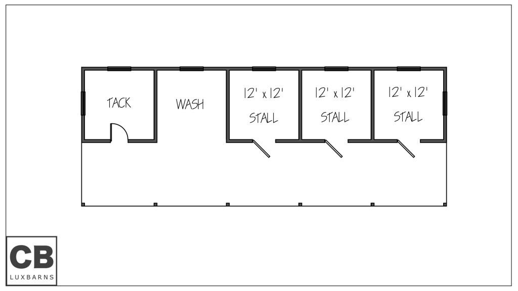 Wellington Barn Floor Plan 65'