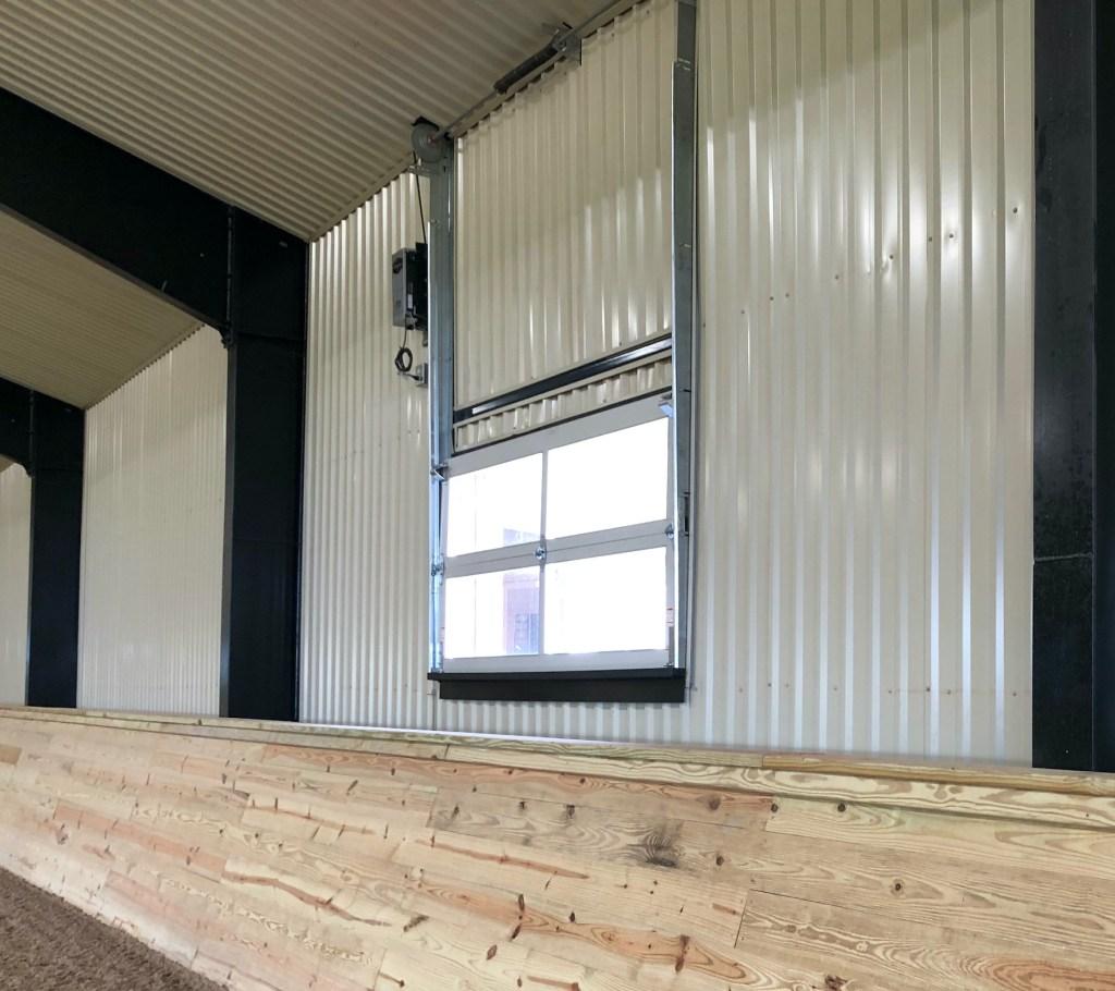 Overhead windows riding arena