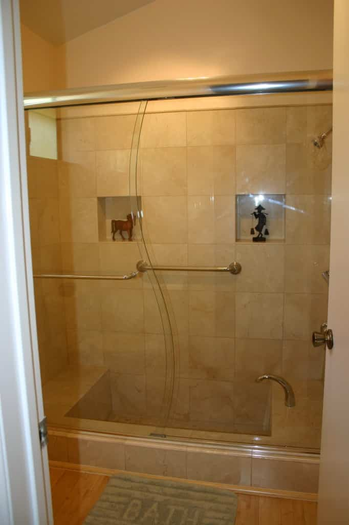 Shower Bronze Frameless Rubbed Sliding Doors
