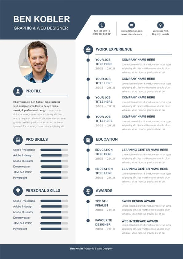 Professional  Creative CV Template  Editable Downloadable CV Word